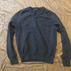 Men's lambs wool JCREW v neck sweater